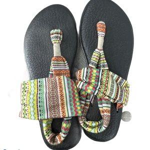 Sanuk yoga mat sandals thongs.  8